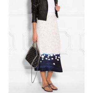 MOTHER OF PEARL Kapka Floral Midi Maxi Silk Skirt
